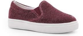 boohoo Girls Shimmer Fabric Skater Shoe