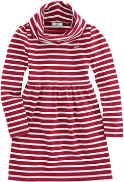 Vineyard Vines Girls Stripe Cowl Neck Dress