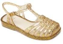 Mini Melissa Girl's Mel Aranha Glittery Sandals