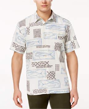 Quiksilver Men's Deco Fish-Print Shirt