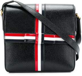 Thom Browne SQUARE PEBBLED LEATHER GIFT-BOX BAG