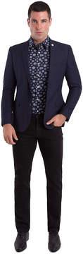 Asstd National Brand Nick Graham Navy Texture Woven Sport Coat Slim Fit
