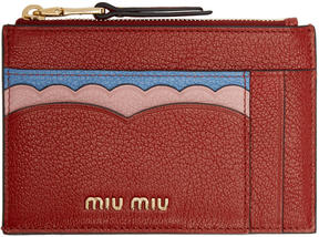 Miu Miu Tricolor Zip Card Holder