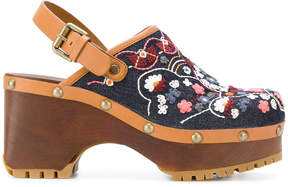 See by Chloe floral embroidered clogs
