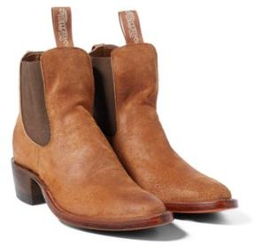 Ralph Lauren Chelsea Plainview Suede Boot Brown 10