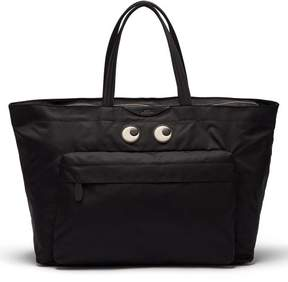 Anya Hindmarch Eyes Nylon Tote Bag - Womens - Black