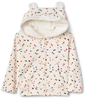 Gap Cozy camo zip bear hoodie