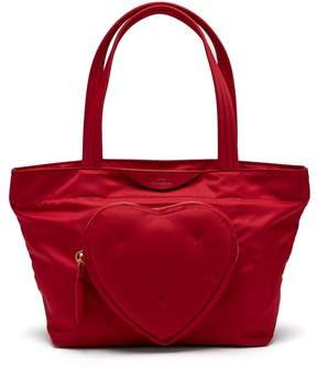 Anya Hindmarch Chubby Heart Nylon Tote Bag - Womens - Red