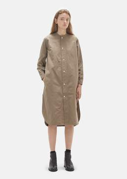 Chimala Vintage Washed Band Collar Shirt Dress Beige Size: X-Small