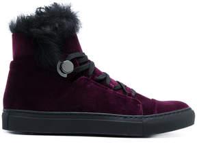 Moncler hi-top velvet sneakers