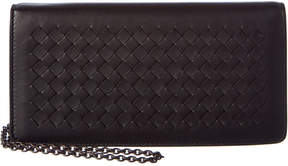 Bottega Veneta Intrecciato Leather Continental Chain Wallet