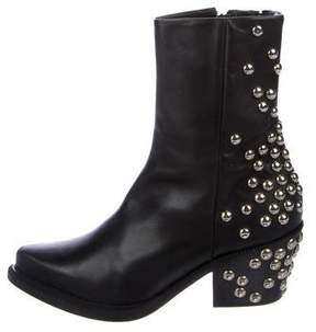 Barbara Bui Embellished Leather ANkle Boots