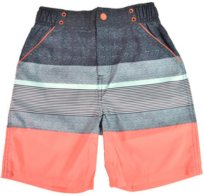 Andy & Evan Boys' Coral Stripe Swimsuit