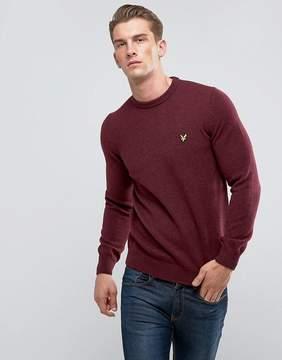 Lyle & Scott Premium Lambswool Sweater Burgundy