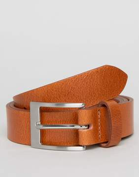New Look Leather Belt In Tan
