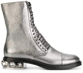 Casadei crystal-embellished City Rock boots