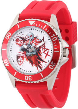 Marvel Guardian Of The Galaxy Mens Red Strap Watch-Wma000123