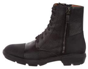 Aquatalia Leather Combat Boots