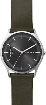 Skagen Men's Holst Leather Strap Watch, 40mm
