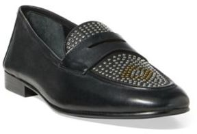 Ralph Lauren Ashtyn Studded Leather Loafer Stud 11.5