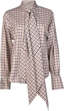 Mulberry Scarf Ribbon Checkered Top