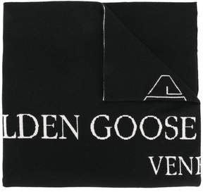 Golden Goose Deluxe Brand knitted logo scarf