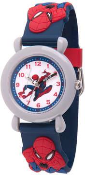 Marvel Spiderman Boys Blue Strap Watch-Wma000163