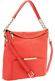 As Is Marc Fisher Cora Leather Convertible Zip Top Hobo