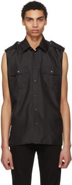 Givenchy Black Sleeveless Pocket Shirt