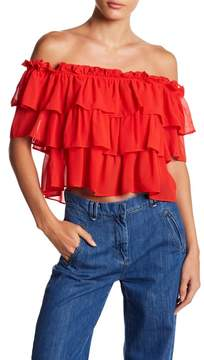 WAYF Toulon Tiered Ruffle Top