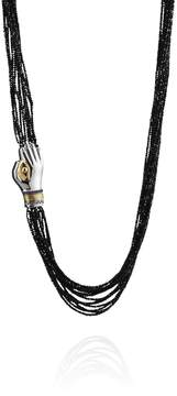 Azza Fahmy Beaded Eye In Hand Necklace
