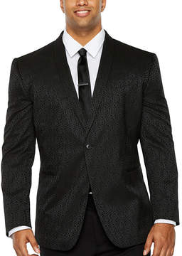 Jf J.Ferrar Floral Classic Fit Tuxedo Jacket - Big and Tall