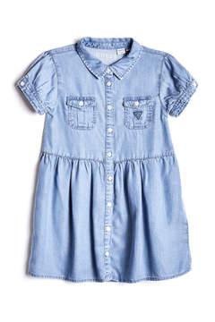 GUESS Short-Sleeve Chambray Dress (2-7)