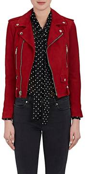Saint Laurent Women's Goatskin Suede Classic Moto Jacket