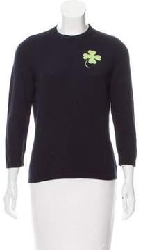 Barneys New York Barney's New York Cashmere Clover Intarsia Sweater