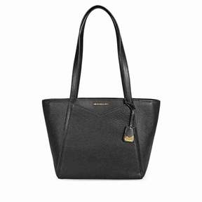 Michael Kors Small Whitney Pebbled Leather Tote- Black - BLACK - STYLE