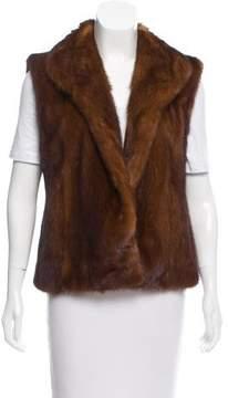 Bloomingdale's Mink Shawl-Lapel Vest