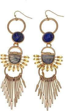 Danielle Nicole Juan Multi-Shaped Stone Goldtone Stick Fringe Drop Earrings