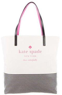 Kate Spade Basin View Bon Shopper Tote - NEUTRALS - STYLE