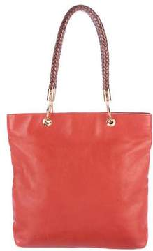 Michael Kors Leather Shopping Tote - ORANGE - STYLE
