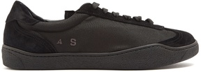 Acne Studios Lars low-top suede and nylon trainers