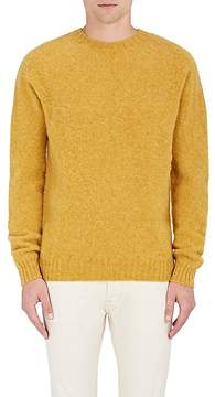 Officine Generale Men's Stockinette-Stitched Shetland Wool Sweater