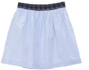 Brooks Brothers Girls' Blue Striped Seersucker Skirt