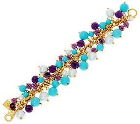 Elizabeth Taylor The Blue and Purple Cluster Bead Bracelet