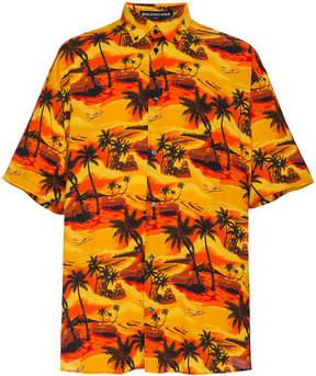 Balenciaga Norm Fit Hawaiian Shirt