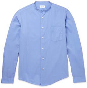 Hartford Slim-Fit Grandad-Collar Cotton Shirt