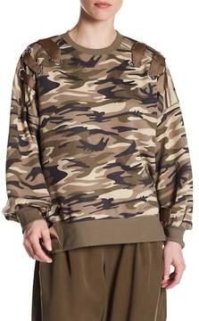 Dex Grommet-and-Lace Sweatshirt