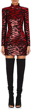 Balmain Women's Tiger-Striped Jacquard Minidress