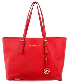 MICHAEL Michael Kors Jet Set Travel Top Zip Multifunction Tote - RED - STYLE
