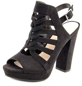 Bar III Womens Nerisa Suede Peep Toe Special Occasion Ankle Strap Sandals.